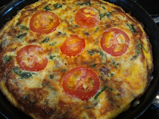 Portabello Mushroom and Spinach Frittata